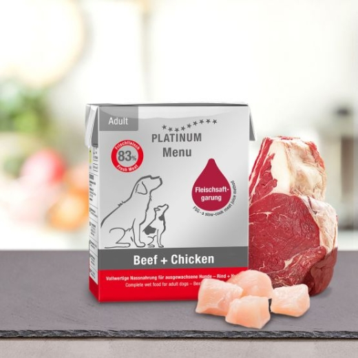 PLATINUM Menu Beef & Chicken 375 g