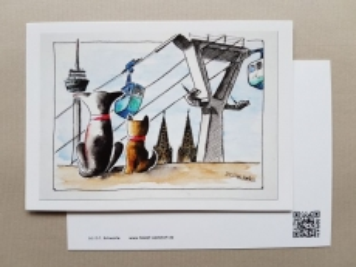Karte Tom & Joe ... an der Kölner Seilbahn