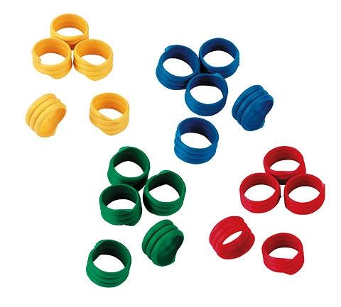 Spiralring 12mm, Kunststoff, farblich gemischt, 100 Stück