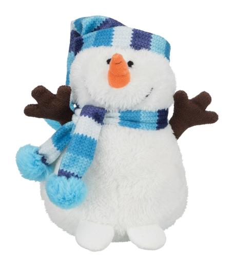 Schneemann mit Pudelmütze
