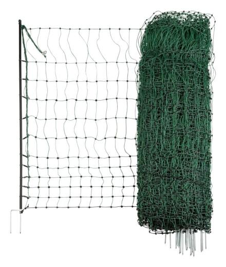 Geflügelnetz grün, 15 m, elektrifizierbar