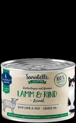 Sanabelle Leckerbissen mit feinem Lamm & Rind 195 g