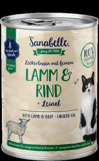 Sanabelle Leckerbissen mit feinem Lamm & Rind 400 g