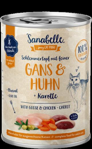 Sanabelle Schlemmertopf mit feiner Gans & Huhn 380 g