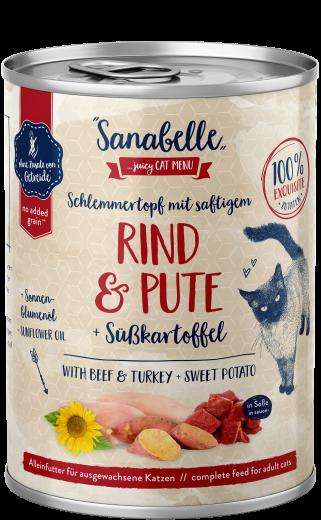 Sanabelle Schlemmertopf mit saftigem Rind & Pute 380 g