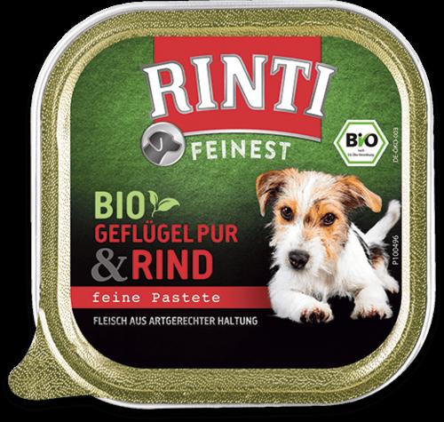Rinti Feinest Bio Geflügel Pur+Rind 150 g