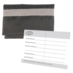 Halsbandtasche für Adresse, Nylon, 5,5 x 4 cm