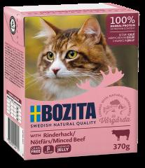 Bozita Cat Tetra Häppchen in Gelee mit Rinderhack 370 g