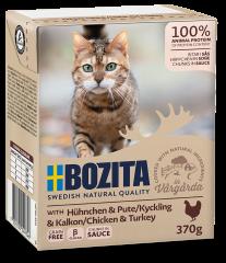 Bozita Cat Tetra Häppchen in Soße mit Hühnchen & Pute 370 g