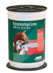 Economy Line Weideband 200 m, 12,5 mm weiß