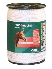 Economy Line Weidezaunseil 200 m, 6 mm weiß