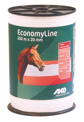 Economy Line Weideband 200 m, 20 mm weiß