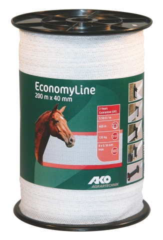 Economy Line Weideband 200m, 40mm weiß