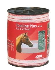 TopLine plus Weidezaunband weiß-rot 200 m / 20 mm