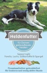 Heldenfutter Senior/Light Forelle,Lachs & Süßkartoffel 12 kg