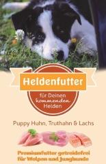 Heldenfutter Welpen Huhn,Truthahn & Lachs 12 kg