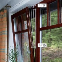 Kippfenster-Schutzgitter, schräg, weiß