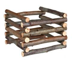 Heuraufe zum Aufstellen, Naturholz