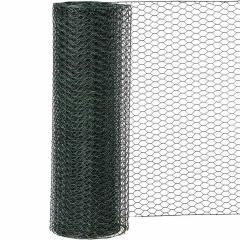 Sechseckgeflecht PVC-grün M: 25 / H:500 mm / L: 10 m