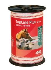 TopLine Plus Weidezaunband weiß-rot 200 m / 10 mm