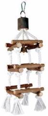 Turm mit Tauen, Naturholz, mit Glocke 51 cm
