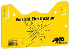 Warnschild hook-in - Vorsicht Elektrozaun