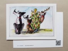 Karte Tom & Joe ... Weihnachten mit Elch