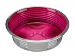 Edelstahlnapf mit Glasur 0,4 l