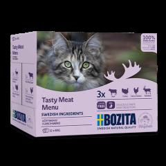 Bozita PB Feline Häppchen in Sosse Fleisch-Menü 12 x 85 g