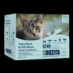 Bozita PB Feline Häppchen in Sosse Fleisch- & Fisch Menü 12 x 85 g