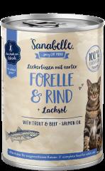 Sanabelle Leckerbissen mit zarter Forelle & Rind 400 g