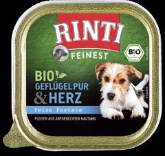 Rinti Feinest Bio Geflügel Pur+Herz 150 g