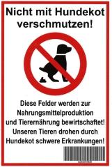 Warnschild Hundekot