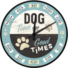 Wanduhr Dog Times