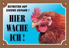 Warnschild Huhn